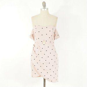 Here comes the Sun Polka Dot Cold-Shoulder Dress